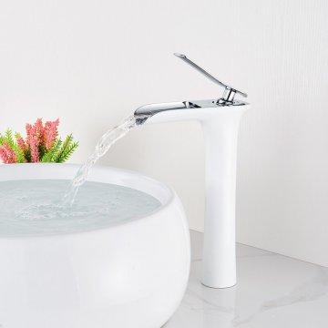 Hoge wastafelkraan waterval enkele handgreep