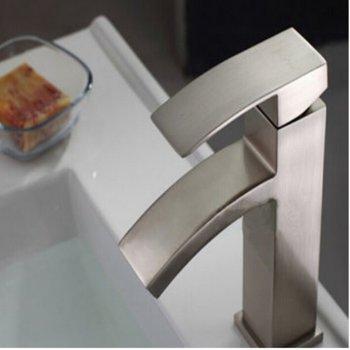 Luxe wastafel waterval mengkraan geborsteld nikkel