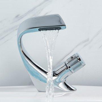 Moderne Luxe Design Wastafel Mengkraan Creatieve Waterval Kraan