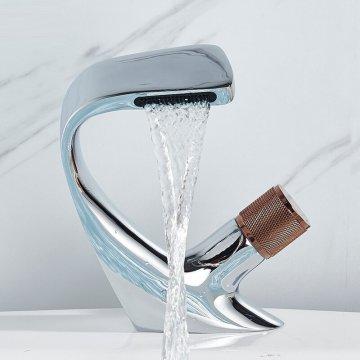 Luxe Design Wastafel Mengkraan Creatieve Waterval Kraan