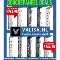 DOUCHE PANEEL DEALS op Valisa.nl