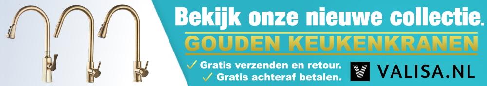 Valisa.nl gouden keukenkranen gouden keukenkraan